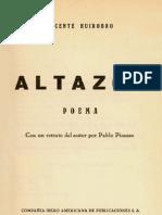 Altazor Huidobro Escaneado