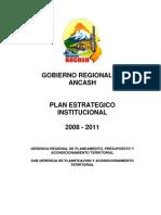 Plan Estrategico Institucional 2008-2011- Ancash