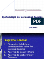 Epistemologia de Las Ciencias Sociales Especialidad