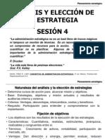 Sesión 4-Análisis y Elección de la Estratégia
