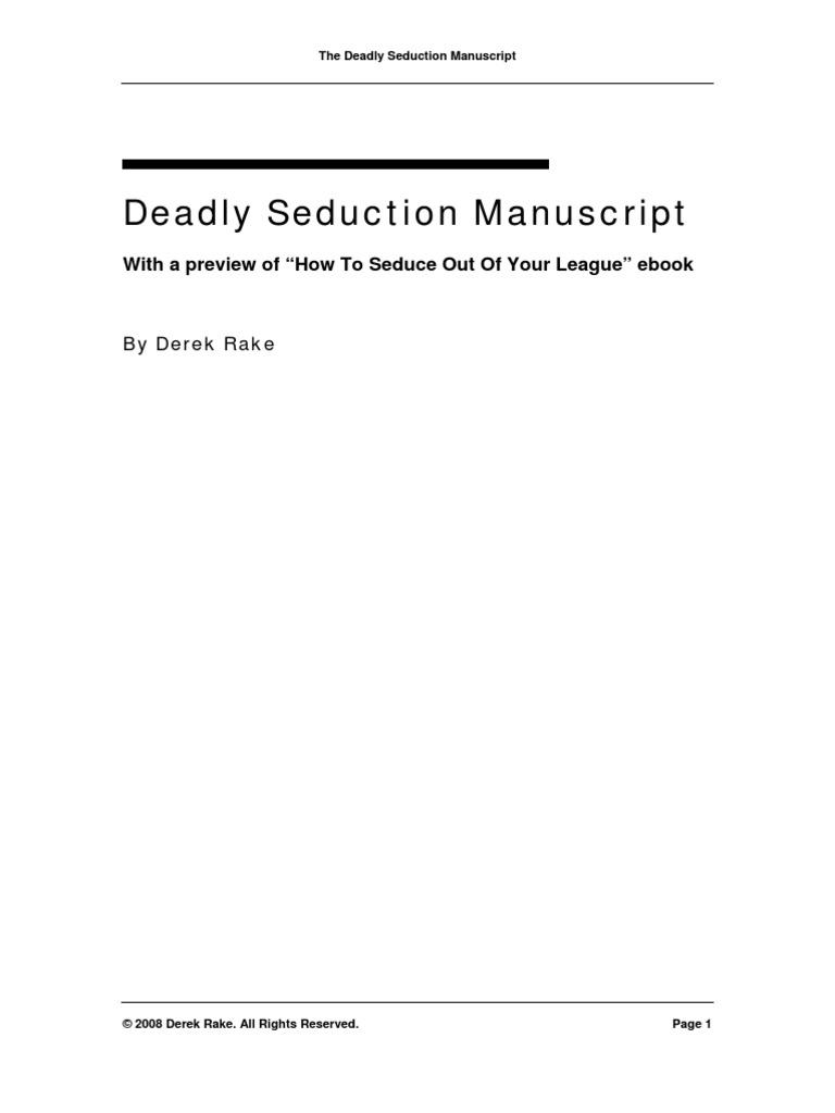 Derek Rake - Deadly Seduction Manuscript Id901197215 Size128 | Seduction |  Persuasion