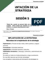 Sesión 5-Implantación de la Estratégia