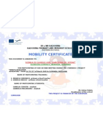 Mobility certificate from Slovakia