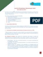 Acta Asamblea Gral. de Estudiantes de Odontología UdeC. 24-04-2013