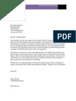 letter ro superintendant
