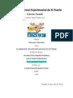 LA organización dl crrículum por proyectos de trabajo
