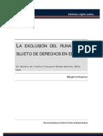 La exclusión del Runa como sujeto de derechos en el Perú.pdf