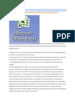 Perhitungan Excel matematik