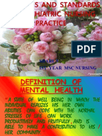 PRINCIPLES OF  PSYCHIATRIC NURSING PRACTICE