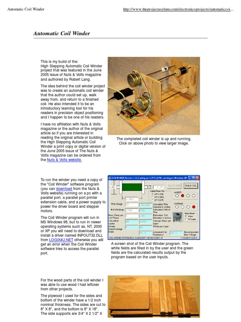 Automatic Coil Winder Stepper Motor Wiring Diagram And Information How To Read Relay Power Supply