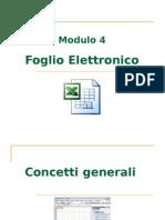ECDL Modulo 4 - Foglio elettronico