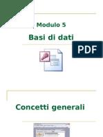 Modulo 5 - Basi di dati