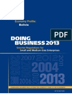 Doing Business 2013, Bolivia Profile. World Bank