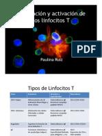 10 Maduracion y Activacion de Los Linfocitos T