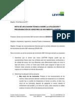Recomendaciones Sensores de Movimiento Leviton