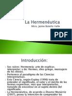 La Hermenéutica. Mtro. Jaime Botello Valle