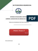 MODULO DE PRÁCTICA DOCENTE II MENCION PRIMARIA-marz-julio-2012