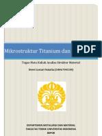 Mikrostruktur Titanium Dan Paduannya