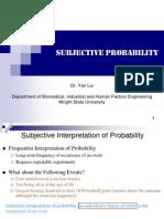 Subjective Probability Student