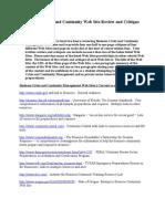 BCCM - Session 2 - BCCM Web Site Review and Critique