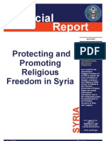 Violations of Religious Freedom in Syria - Special USCIRF Report - Apr 2013