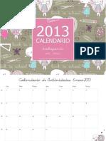 Calendario Mensual de Actividades