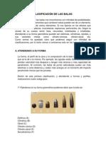 CLASIFICACIÓN DE LAS BALAS