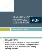 Development in Pharmaceutical Dosage Form Design