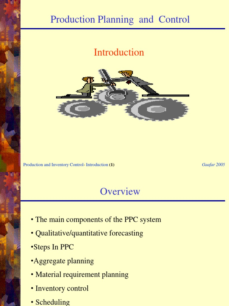 Production Planning and Control Ppt | Corporate Jargon
