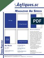 Antiques Magazine Ad Specs
