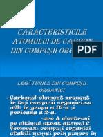 Caracteristicile Atomului de Carbon Din Compusii Organici
