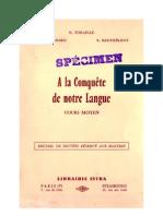 Langue Française Dictée 01 CM1 CM2 Certificat d'Etude