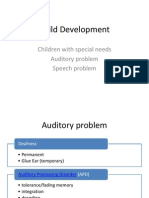 Child Development- Auditory n Speech Problem