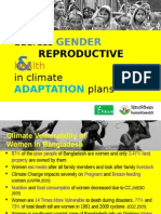 address GENDER     REPRODUCTIVE healthin climate ADAPTATION plans