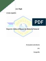 Reporte Historia Natural