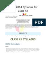 NEET Syllabus Class XII