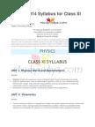 NEET Syllabus for Class XI