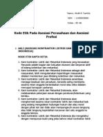 Kode Etik Asosiasi Perusahaan Dan Asosiasi Profesi