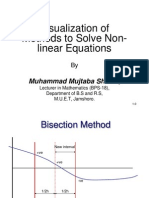 Visualization of Solution Methods for Non-Linear Equations