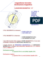 Magnetismo Terrestre Declinazione Magnetica