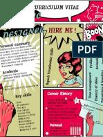 Graphic Designer Comic CV resume Design