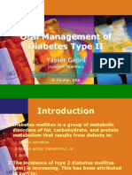 Oral Management of Diabetes Type II