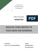 Concurenta Pe Piata Berii Din Romania