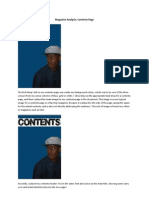 Tolu Awojobi AS Media Coursework - Final Contents Page Development