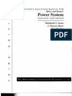 Solution Manual of power system analysis by Hadi Saadat Second Edition