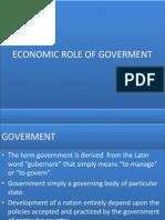 Economic Role of Govt - Copy