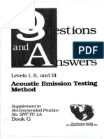 Question and Answer for Acoustic Emission Testing Method