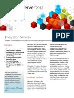 SQL Server 2012 Integration Services Datasheet