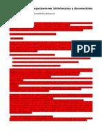 Panorama de Las Organizaciones Bibliotecarias y Documentales Internacionales