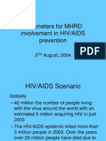 Parameters for MHRD in HIV2